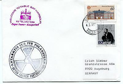 1990 Polarstern Totable Bay Cape Town Dutch French PAQUEBOT Polar Cover