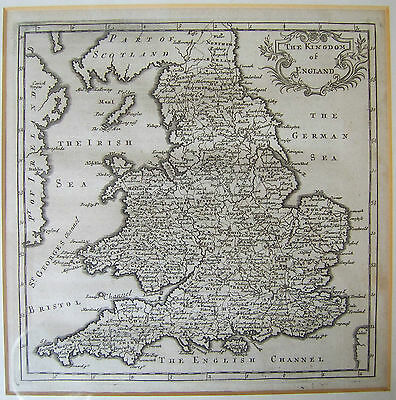 England & Wales: antique map by Hermann Moll, 1701