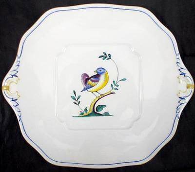 Spode QUEENS BIRD Handled Cake Plate Current Backstamp Y4973 GREAT CONDITION