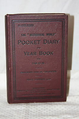 Antique 1905 The Mechanical World Pocket Diary Year Book Engineering Rules Data