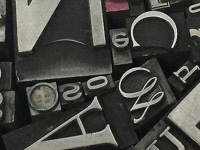 Mixed Metal Type - Letterpress Type from the 50's era