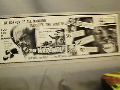 The Werewolf  Coming Attraction Movie  Window Card