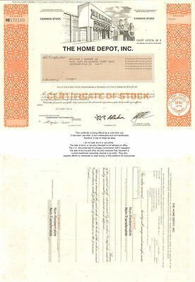 The Home Depot   collectible stock certificate share