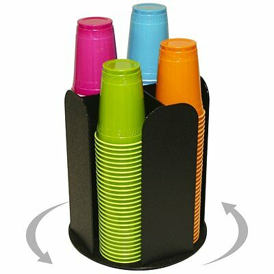 """4 Columns for Cup Dispensing and Lid Holder That Spins. Holds Upto 4 1/4"""" Coffee"""
