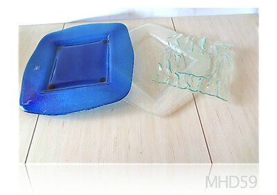 Glass Platter Made in ITALY by IVV Made in Italy AUTHENTIC . Lot of 3 .BEAUTIFUL