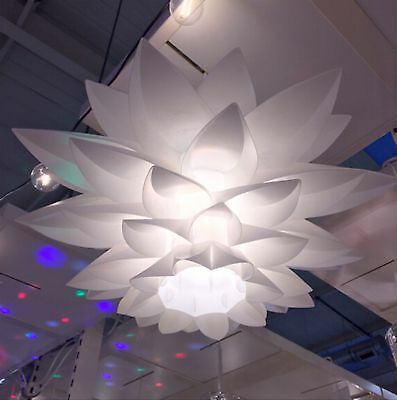 New Modern White Theana Light Pendant Shade Feather Style Ceiling Chandelier