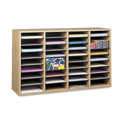 Sorter Literature Employee Mail Safco 36 Compartment Wood Classroom Mailbox