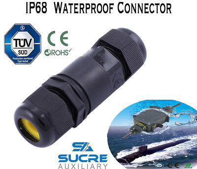 16A450V 2/3/4 Pin IP68 Waterproof Electrical Cable Wire Connector 4M Depth Water