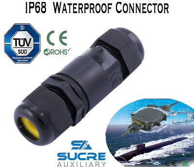 2 3 4 Pin IP68 Waterproof Electrical Cable Wire Connector 4M Depth Water