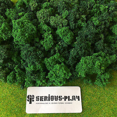 Dark Green Scrub Foliage - Clump Mixed Bush Tree Model Railway Warhammer Scenery