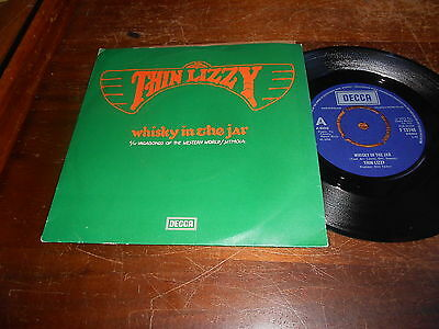 Thin Lizzy 70s UK 45 Whisky in the Jar / Vagabond of the Western World / Sitamoi