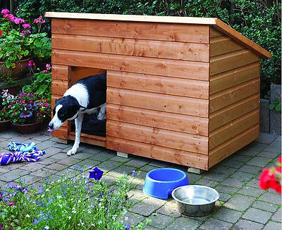 Wooden Large Dog Kennel Outdoor Dog House Weatherproof Kennels NEW Pets Home Bed