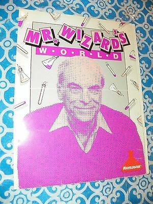VERY RARE Vintage 1987 Nickelodeon Mr. Wizard World Promotional School Folder 11