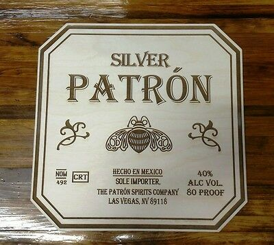 Patron Tequila Wood Sign