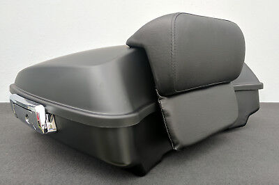 Chopped Tour Pack Luggage Trunk w/ Hardware & Backrest for Harley Touring 2014-
