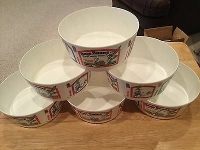 ***VINTAGE 1987*** Bugs Bunny Vitamins Cereal Bowls (New/Never Used)