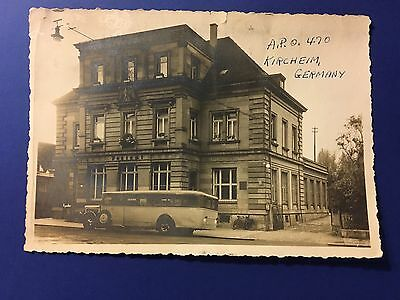 Original Ww2 Photo Of Apo 470 Kircheim Germany Post Office Photo