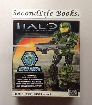 HALO Collector's Series - UNSC SPARTAN II 2. Mega Blocs 29671. Sealed New.