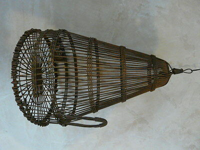 antique chinese asian song bird birdcage cage metal c1900 oriental rare