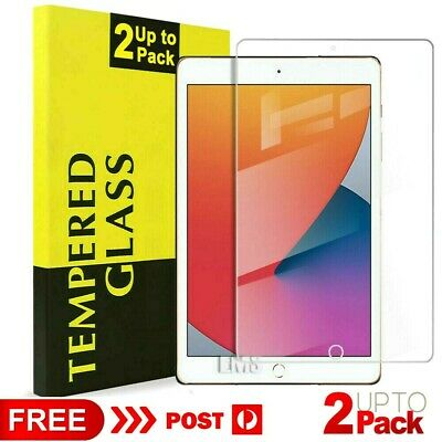 "2X Genuine Tempered Glass Screen Protector Apple iPad 5th 6th Gen 9.7"" 2017 2018"