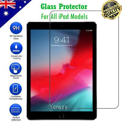 2X Tempered Glass Screen Protector for Apple iPad 2 3 4 5 6 Air Mini Pro 11 2018