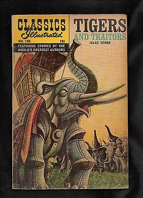 Classics Illustrated #166 Fair (O) Hrn165 (Tigers And Traitors) Jules Verne