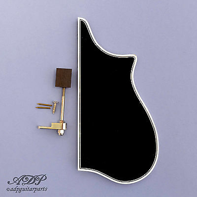MANDOLIN PICKGUARD replacement F-Style Gibson BLACK 3-ply Binding +BRACKET PG-2F
