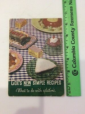 Vintage Cox's Gelatine Selected Recipes Booklet Cox's New Simple Recipes