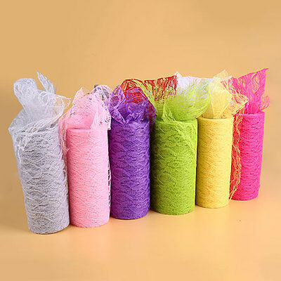 """6""""x10YD Vintage Lace Roll Fabric Tulle Table Runner Chair Skirt Table Runner"""