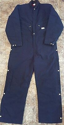 Carhartt Mens coveralls Quilt Lined Duck canvas Suit black Regular size 44