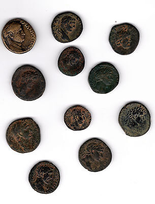 Eleven Ancient Roman Coins  Struck at Antioch Mint  Reverse Large  SC in Wreath