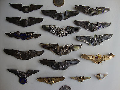 Rare W.W. II. U.S. Air Force Pilot Wings Sterling Collection Vintage Originals