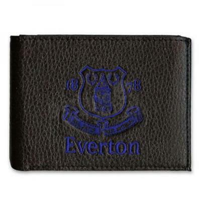 Embroidered Real Leather EVERTON FC Football Club Wallet Fan Player Present GIFT