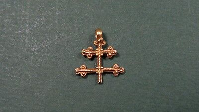 Ancient Gold Cross Granulation Design Byzantine 500-800 Ad