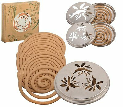 Outdoor Mosquito Coils Holder Citronella With Lid Stand Pack Of 10 Long Lasting