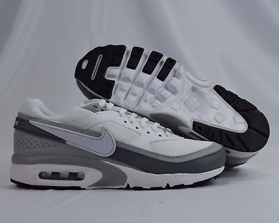 new concept f3053 bbb28 Nike Air Max BW 820344-005 White Black Gray Kids GS Shoes