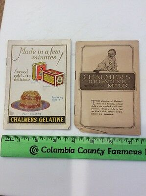 Vintage Chalmers Gelatine Recipes Booklets Williamsville, NY