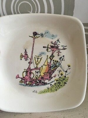 Vintage Wade Emetts Emett Pin Dish Tray Retro Pastoral Interlude