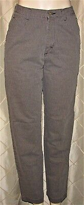Riders Casuals Dress Pants Women's Size 8 M Flat Front Gray Pinstriped