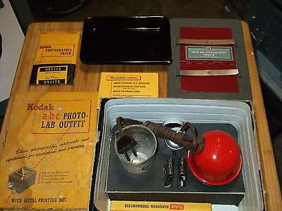 Kodak ABC Photo Lab Outfit Vintage 1940's Developing Kit