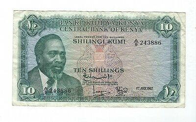 Kenya - Ten (10) Shillings   1967