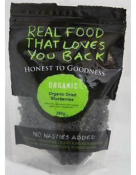 Honest To Goodness Organic Dried Blueberries 250g