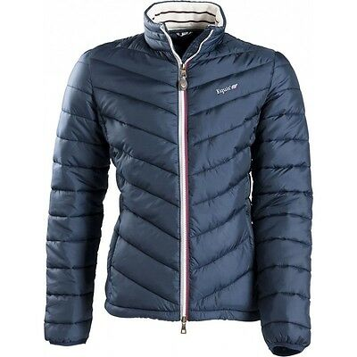 Equi-Theme Equit'M E.L Quilted Mens Jacket Padded Coat Navy Blue 97861207