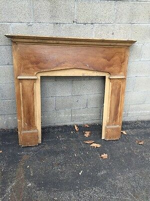 Cm 9 Early Antique Fireplace Mantel Crackle Finish