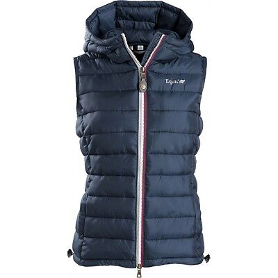 Equi-Theme Equit'M E.L Ladies Quilted Gilet Padded Waistcoat Navy Blue 97808307