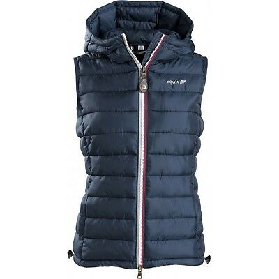 Equi-Theme Equit'M E.L Mens Quilted Gilet Padded Waistcoat Navy Blue 97808407
