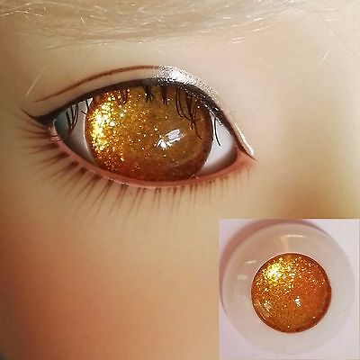 Pupilless Gold - BJD Eyes - 8mm 10 12 14 16 18 20 22 SD13/10 Doll Dollfie