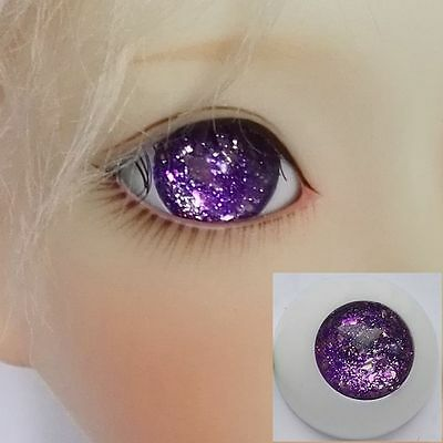 Pupilless Glitter Purple - BJD Eyes - 8mm 10 12 14 16 18 20 22 SD13 Doll Dollfie