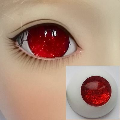 Pupilless Red - BJD Eyes - 8mm 10mm 12mm 14mm 16mm 18 20 22 SD13/10 Doll Dollfie