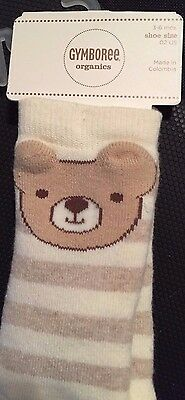 Gymboree Organics Bears Unisex  Socks 3 6 Months GIrl Boy Baby Bear NWT